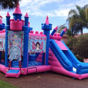 disney princess jumping castle with slide